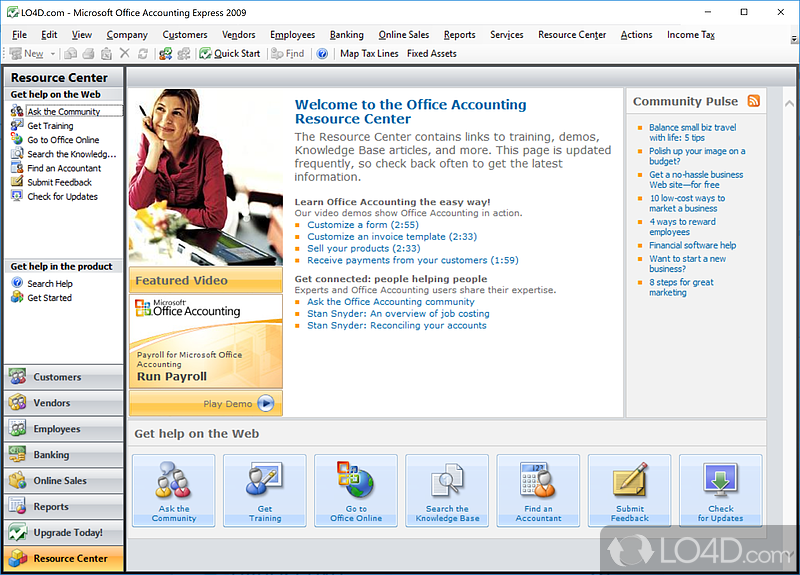 free microsoft accounting software for small business