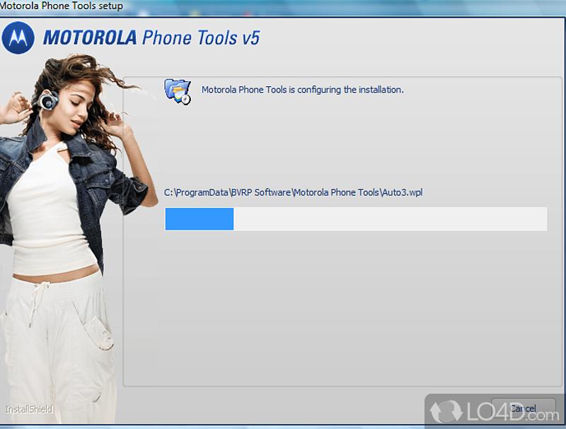 Updating motorola phone tools
