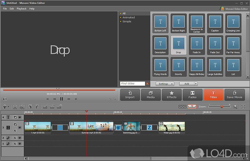 Movavi video editor 4