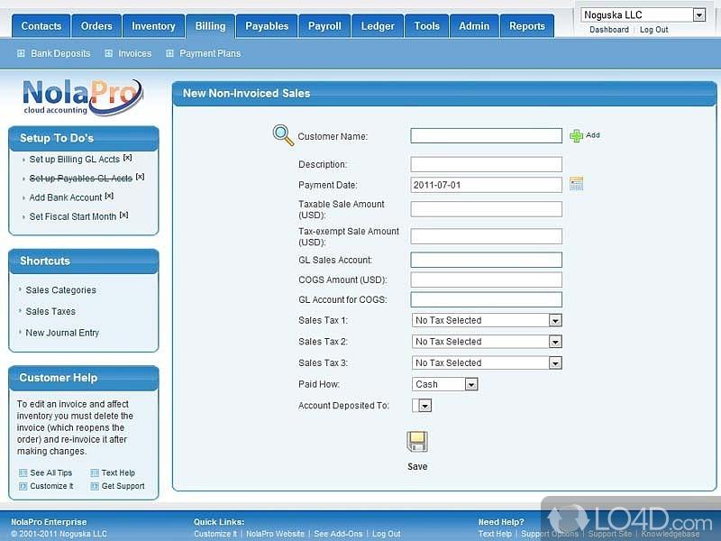 NolaPro Free Accounting - 1
