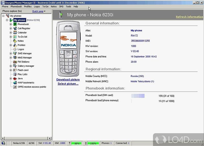 Oxygen Phone Manager II для смартфонов под управлением Symbian OS 2.18.