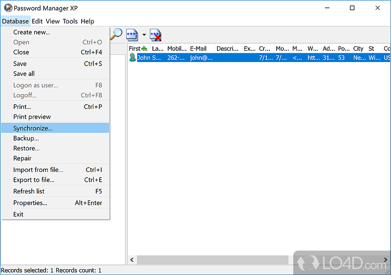 password manager xp   screenshots