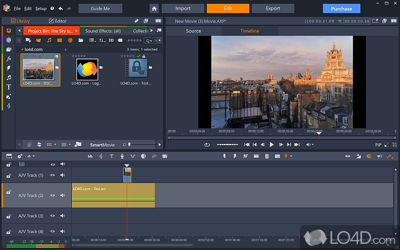 how to add video track in pinnacle studio