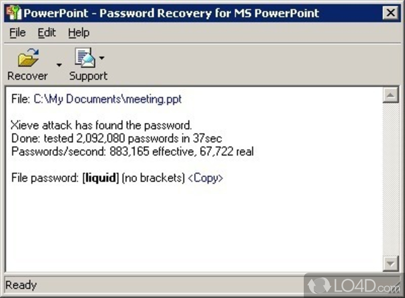 Powerpoint Password Recovery Key.