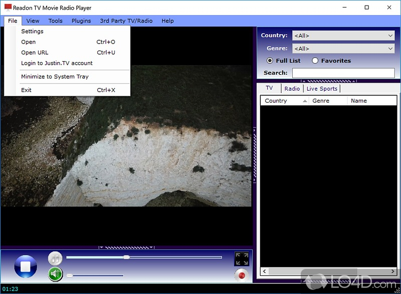 Download readon tv movie radio player for windows 7
