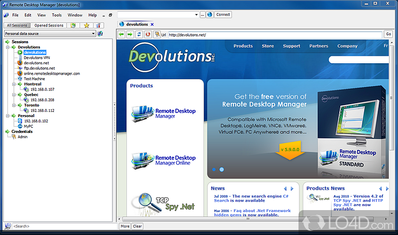 Télécharger l'édition Free - Remote Desktop Manager