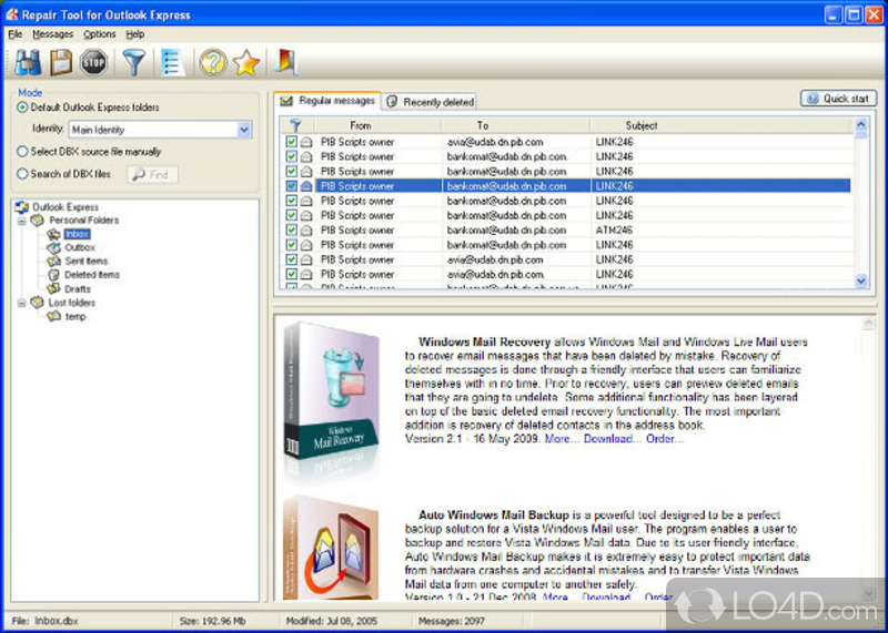 Recovery toolbox for outlook express key generator