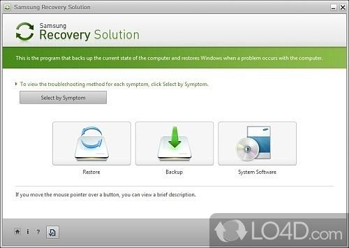 Скачать программу samsung recovery area для ноутбука
