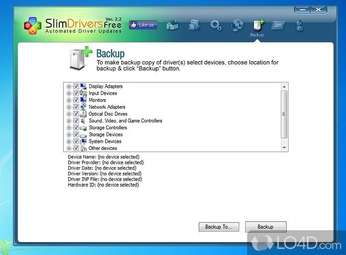 SlimDrivers - программа, которая была разработана в целях установления мест