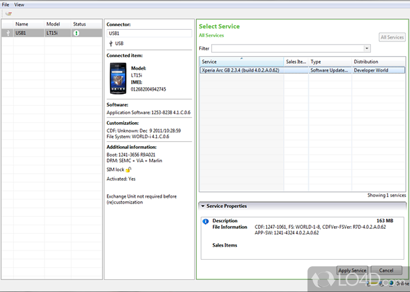 sony ericsson software update tool free download