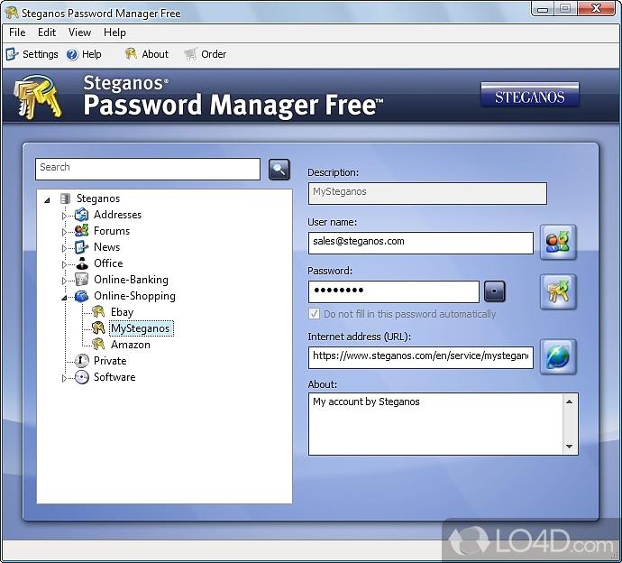 Steganos Password Manager bir güvenli şifre depolama programıdır