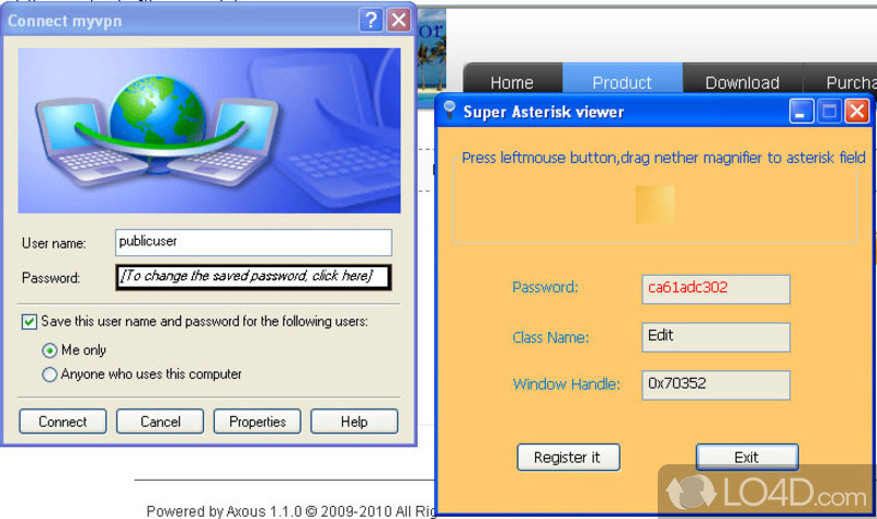 how to use password viewer