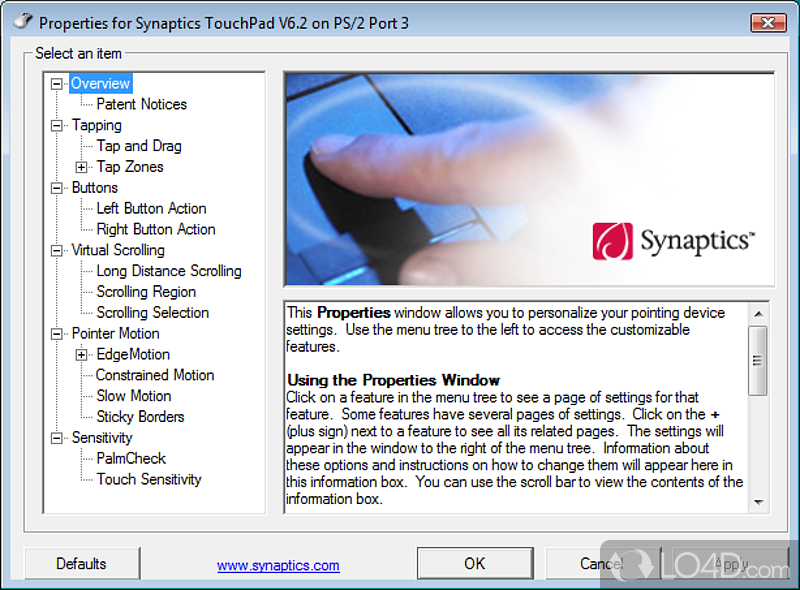 Download Synaptics Driver Windows 10