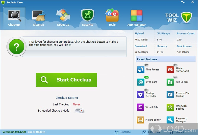 Toolwiz Care 1001300 2012 PC    Portable
