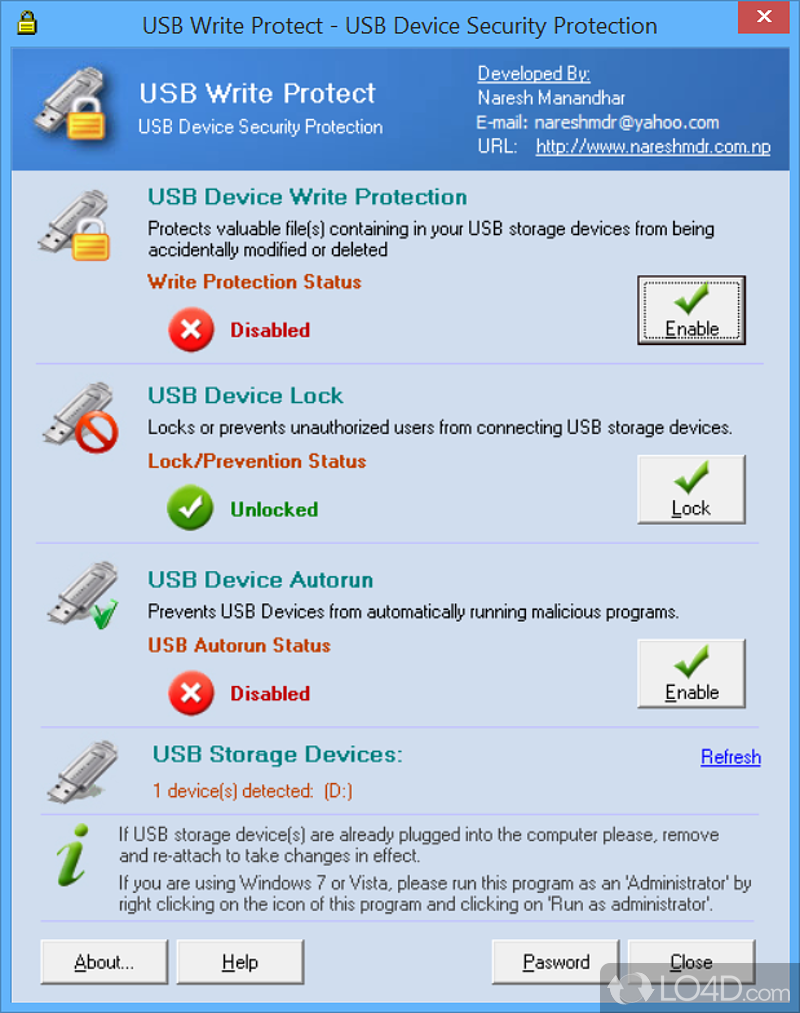 How to write protect a usb drive