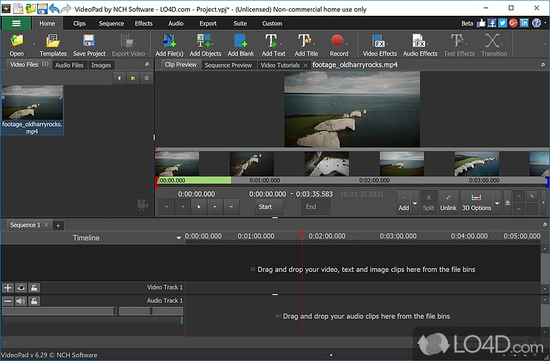 VideoPad Video Editor (Full Version) - 1