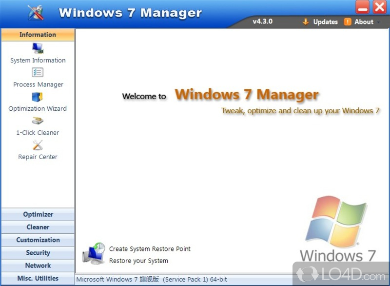 Windows 7 Manager - 1