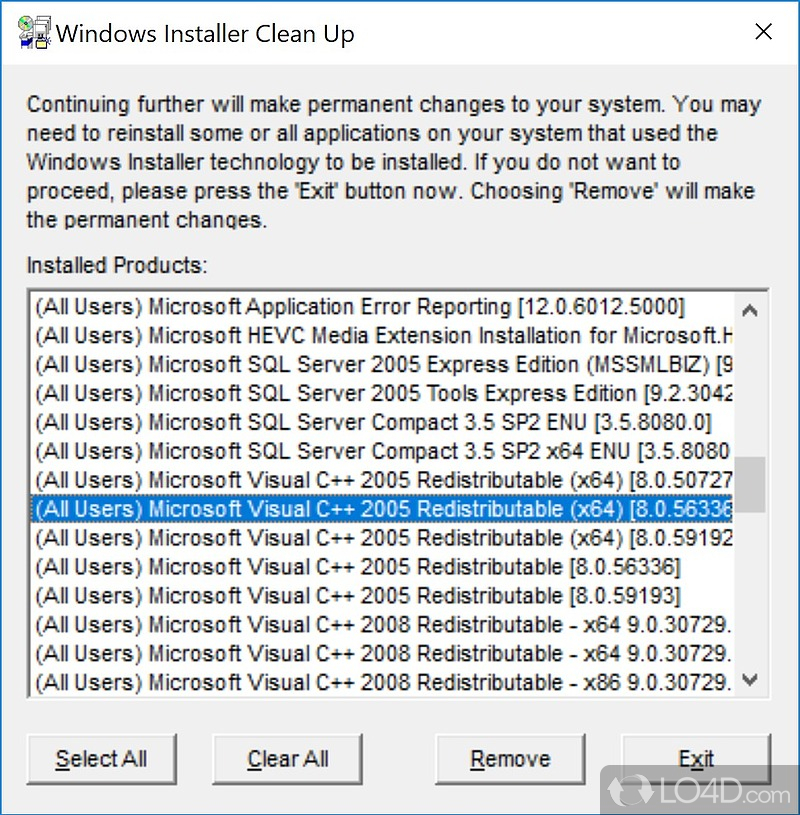 Windows installer cleanup utility