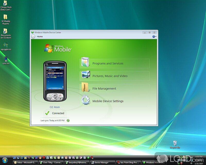 microsoft windows mobile device center 6.1 for windows 7 64-bit