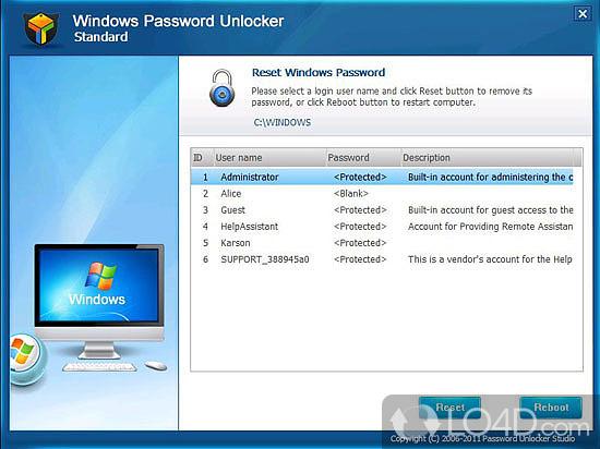 Windows password unlocker download for Window recovery
