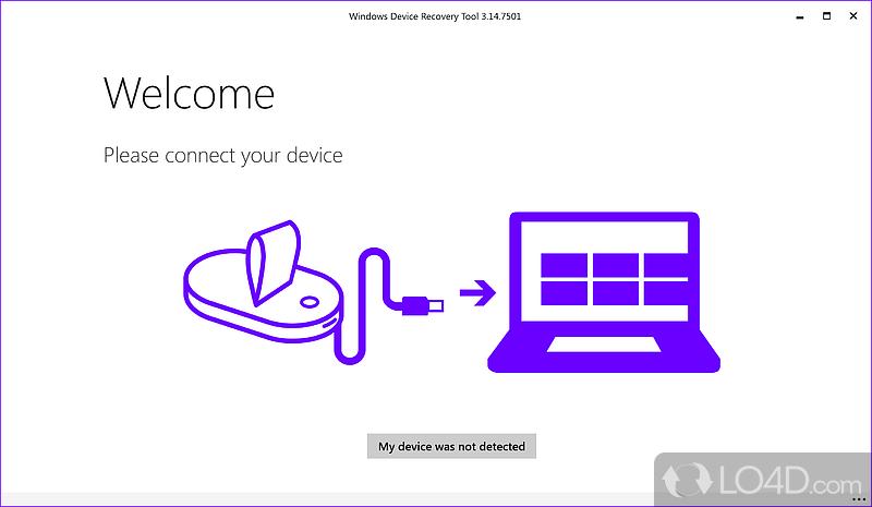 windows device recovery tool setup failed