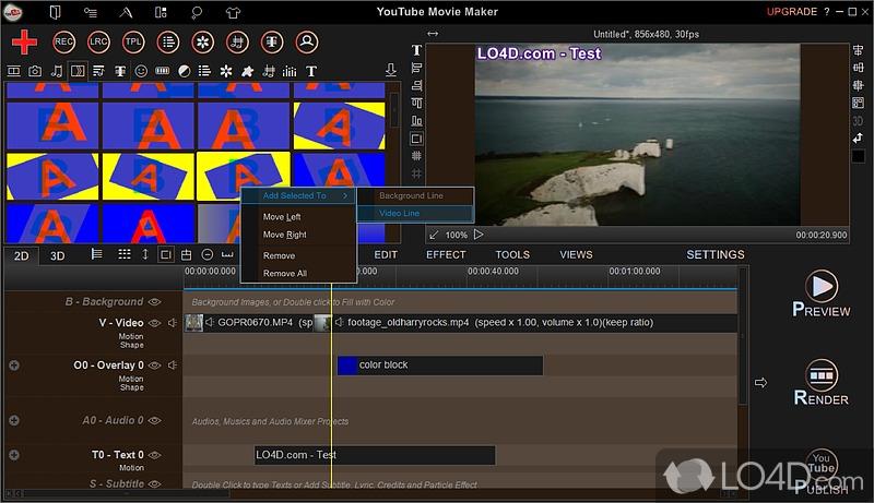 YouTube Movie Maker - Screenshot #5