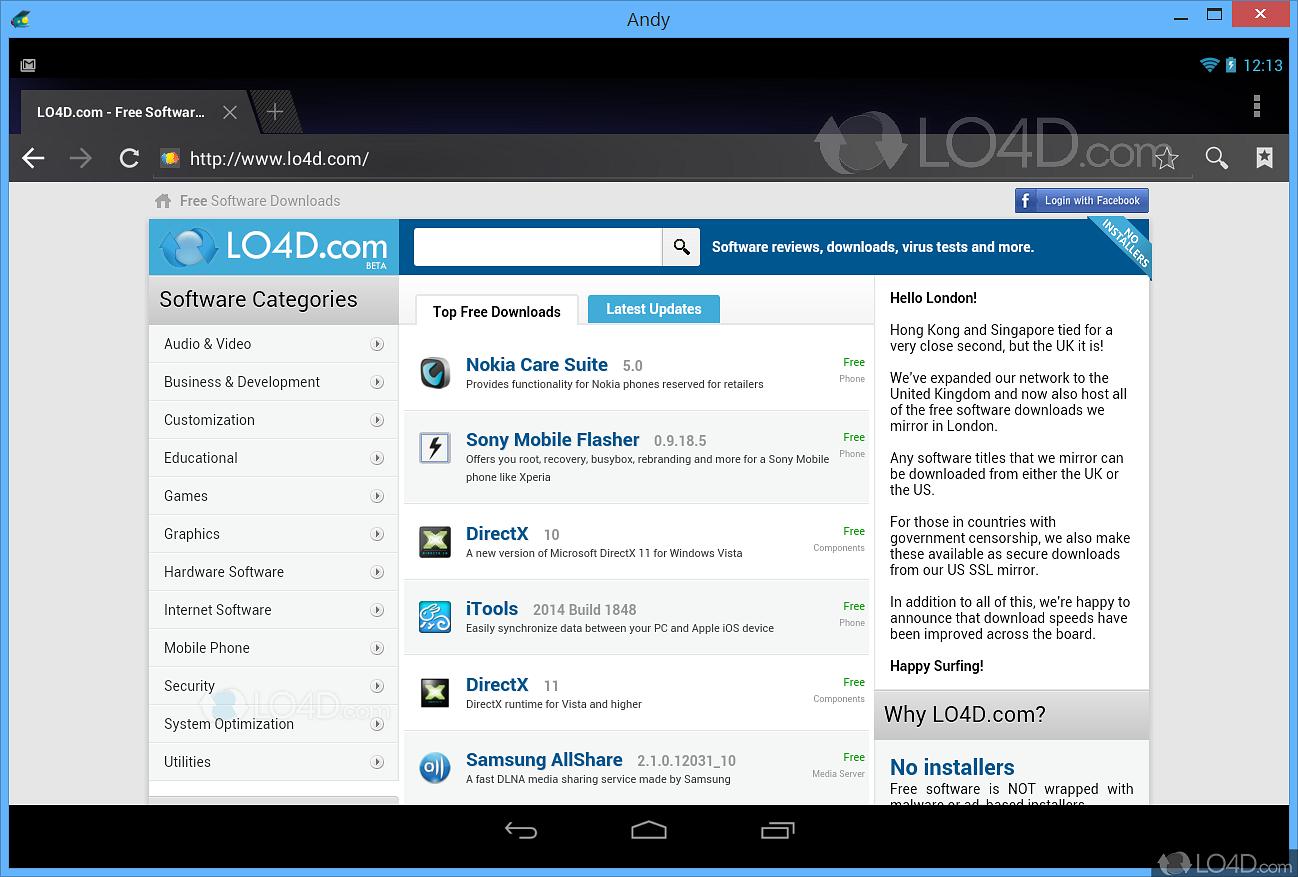 AndY Android Emulator - Screenshots