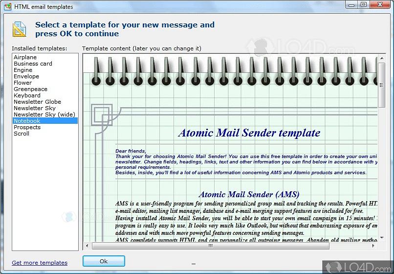 Atomic Mail Sender - Screenshots