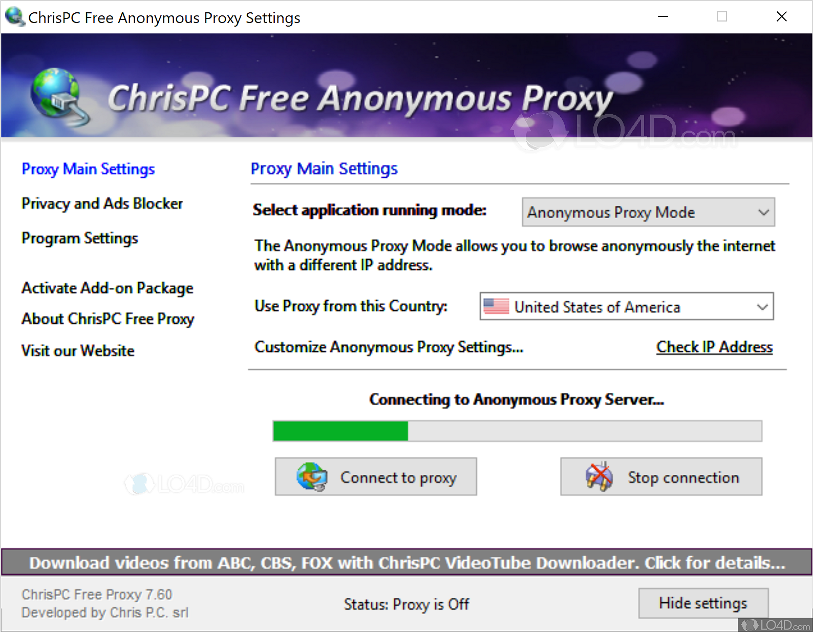 chrispc free anonymous proxy 64 bits