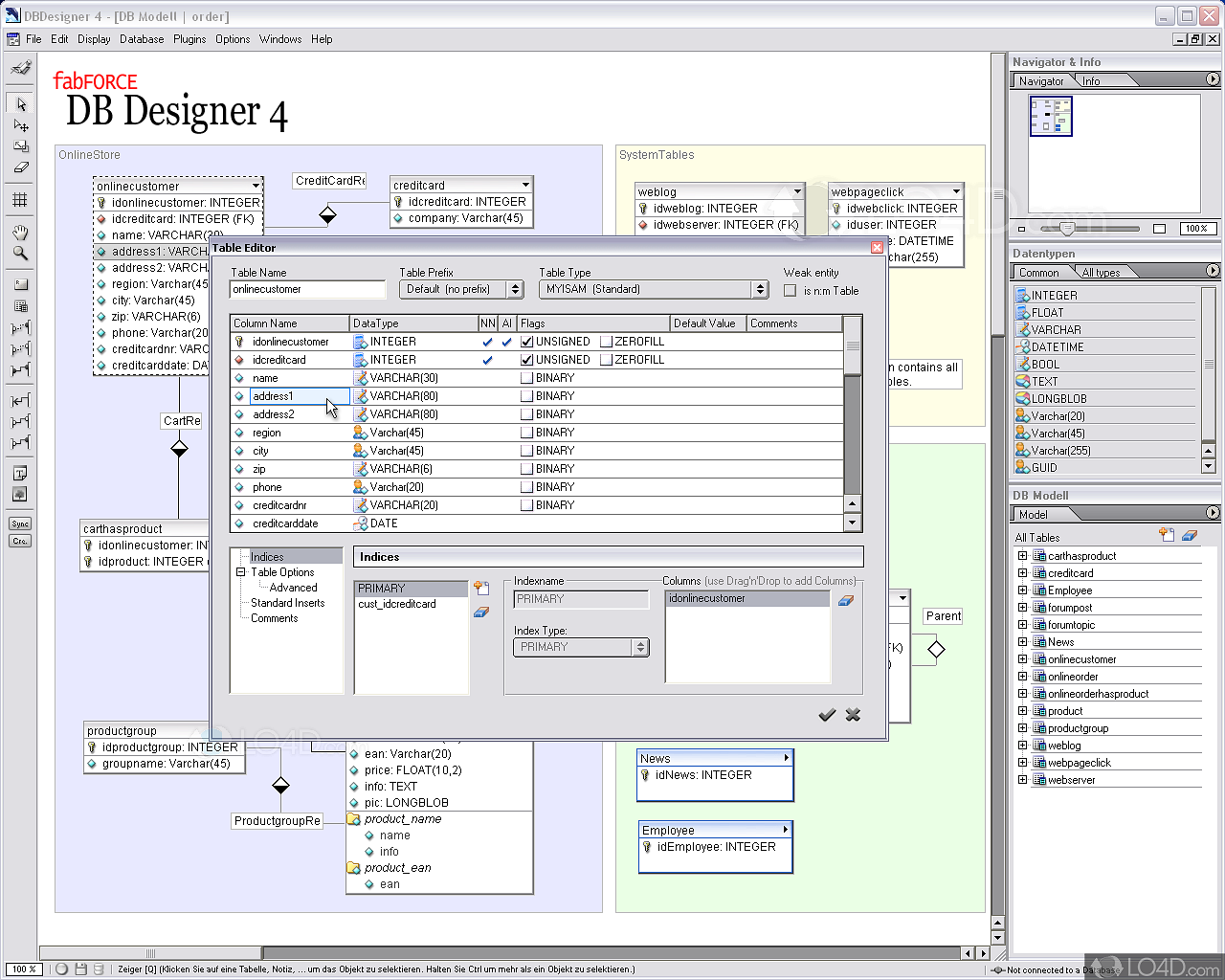 dbdesigner 4.0.5.6 pour windows