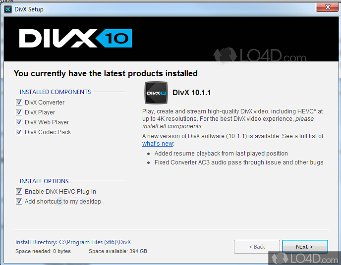 System requirements: divx for windows – divx.