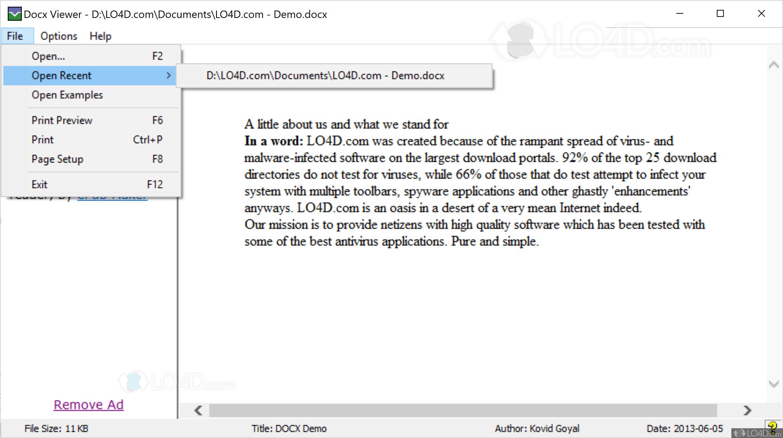 DocX Viewer online - LO4D com