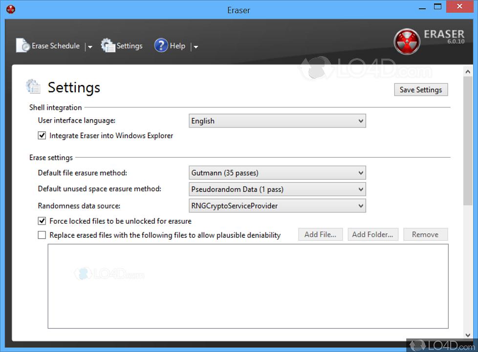 Eraser download freeware