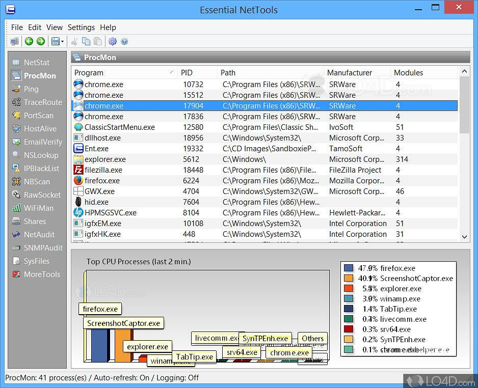 Essential NetTools - Screenshots