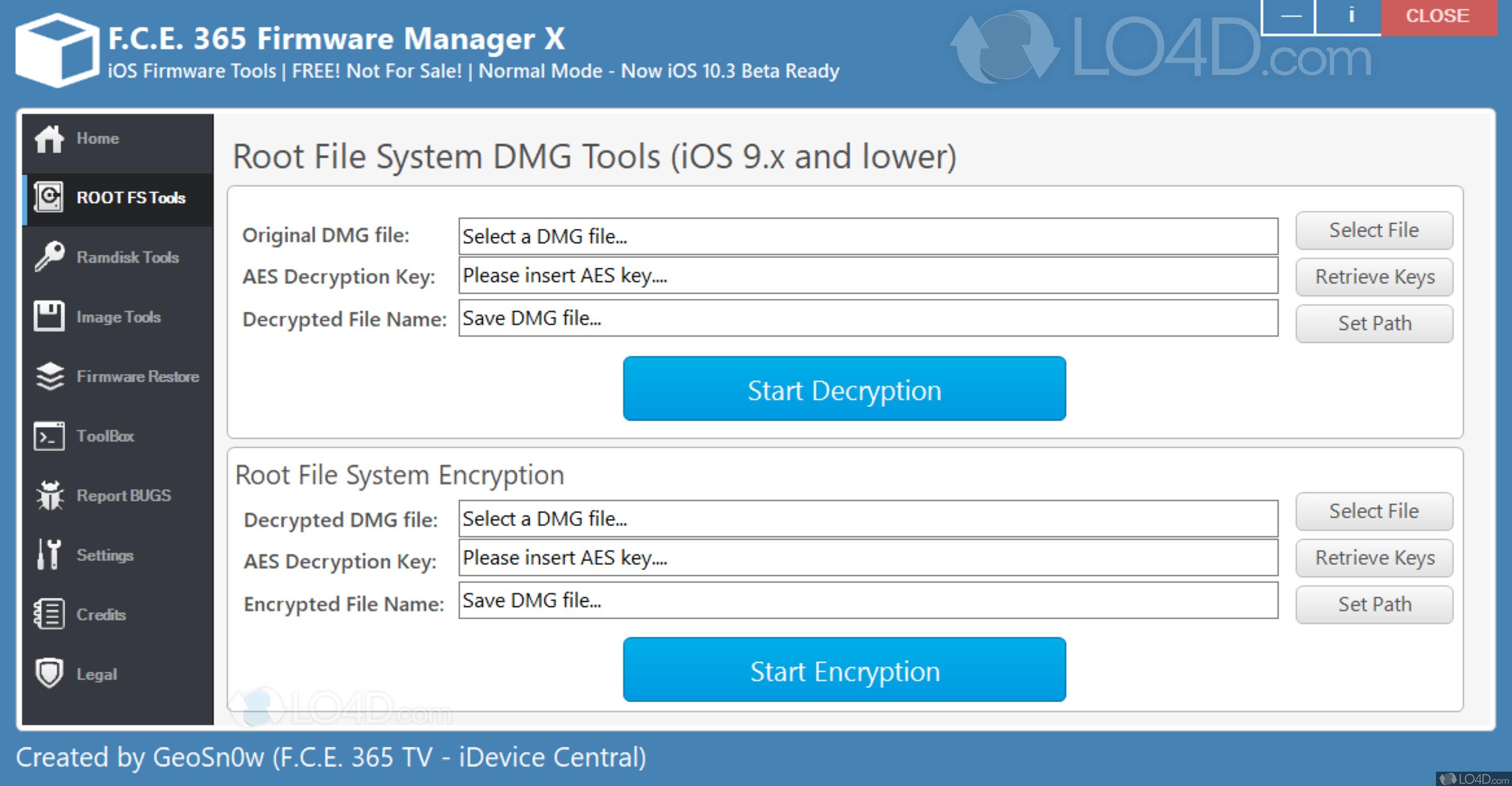 F C E  365 Firmware Manager - Screenshots