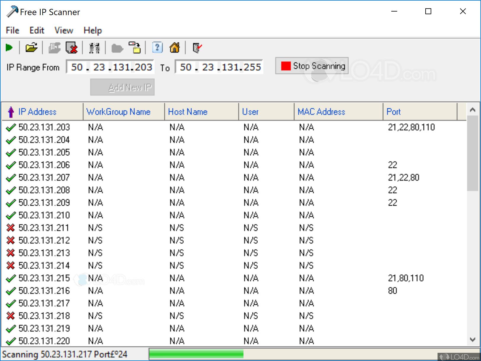 Free IP Scanner - Screenshots