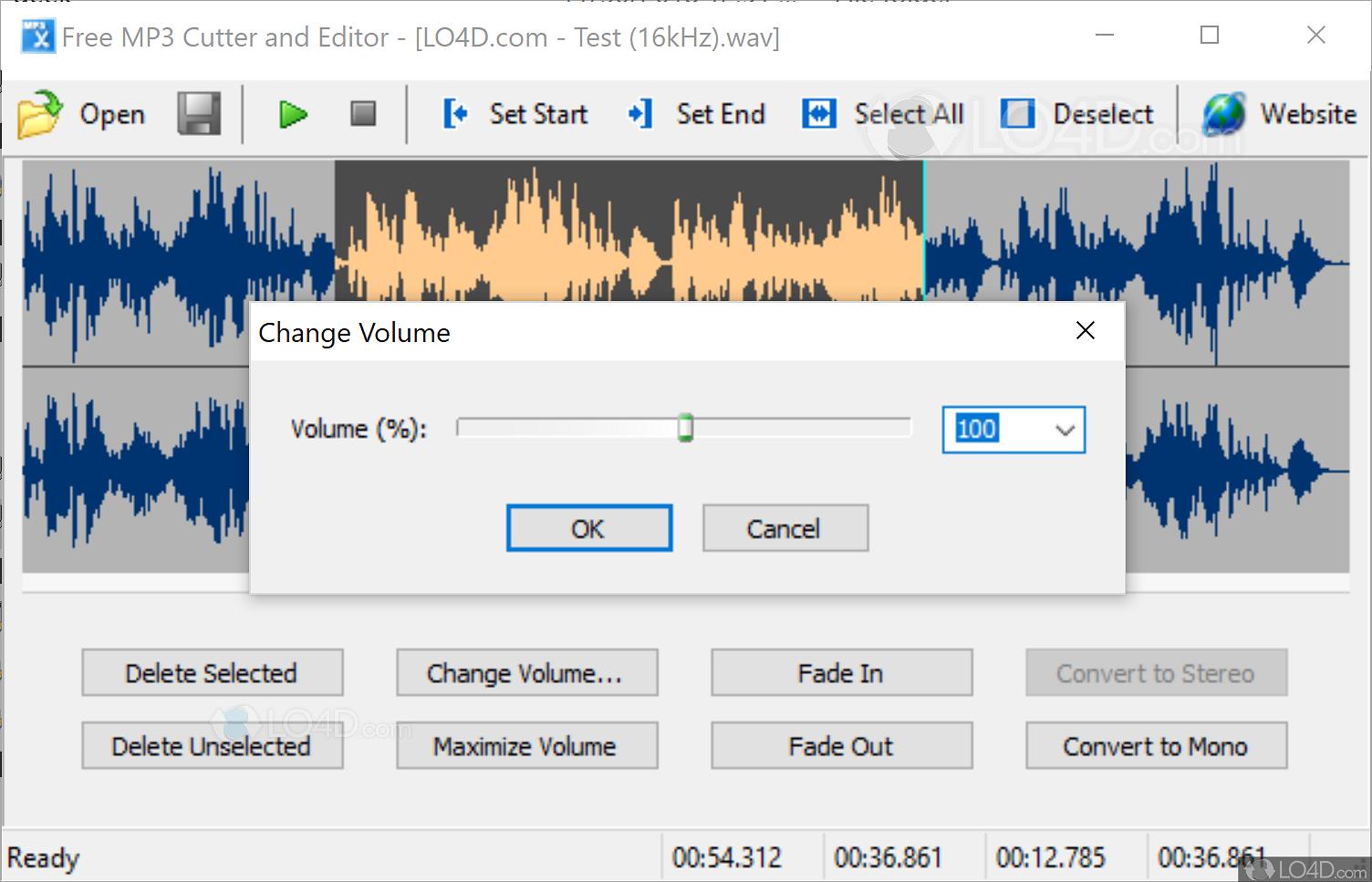 Free MP3 Cutter and Editor - Screenshots
