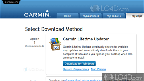 garmin lifetime updater