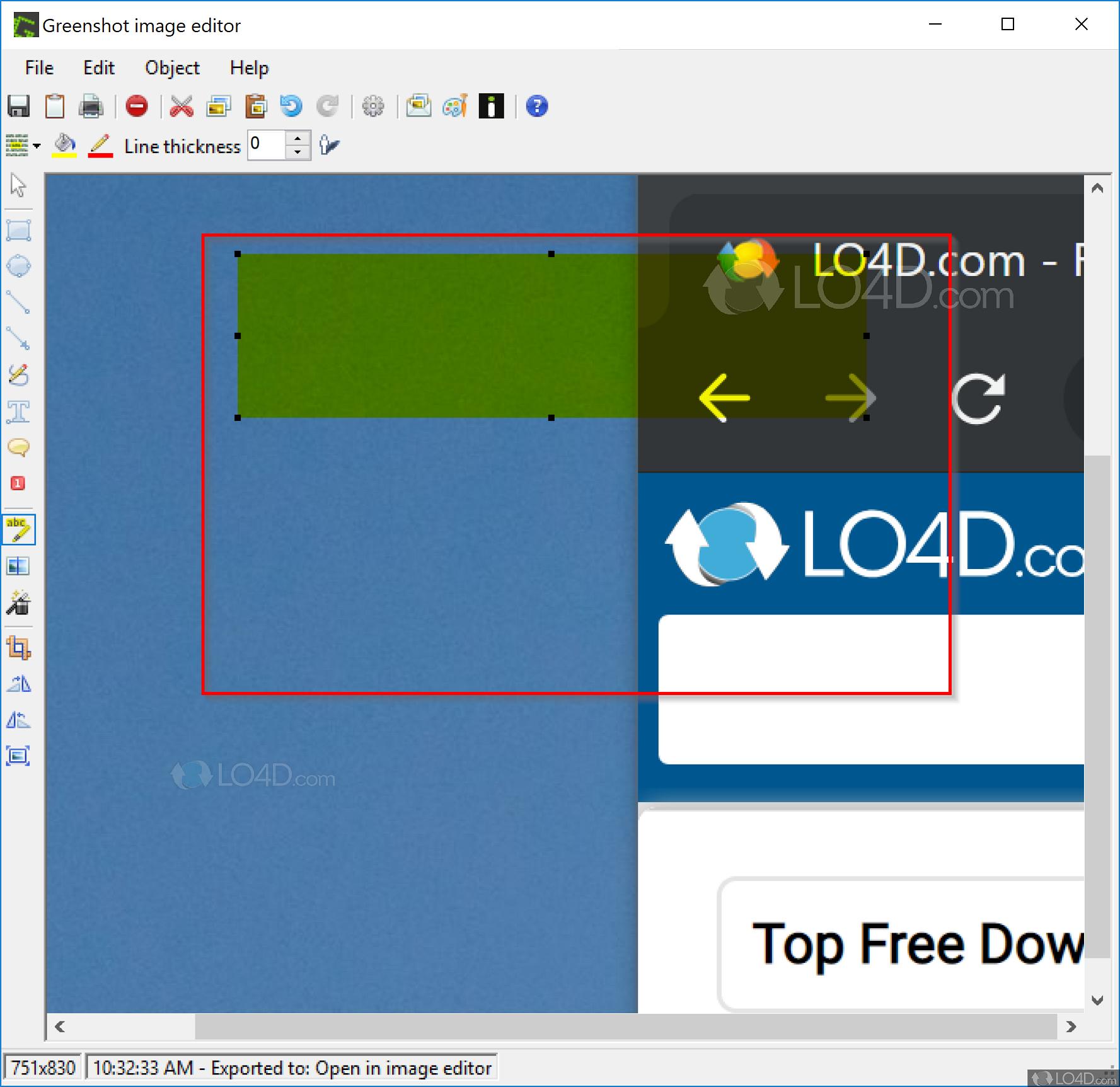 GreenShot portable - LO4D com
