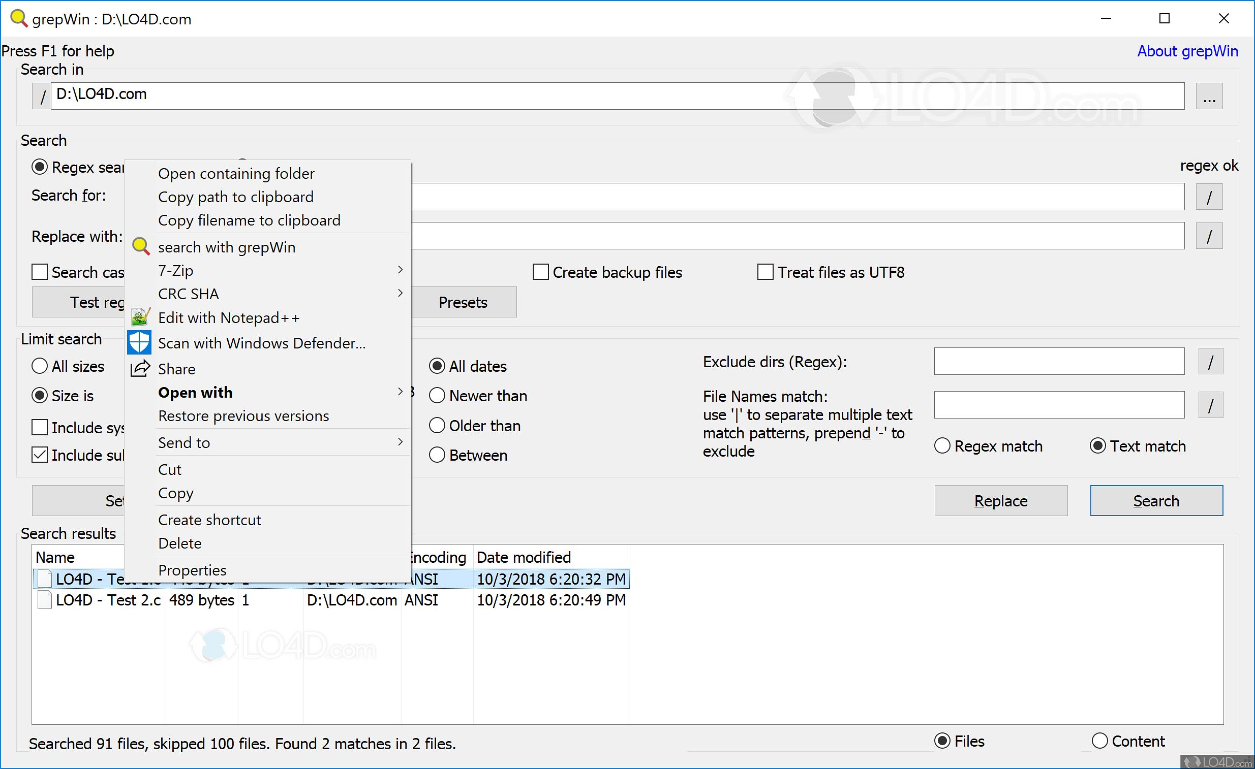 Download grepwin 1. 9. 0. 8. 0. 5.