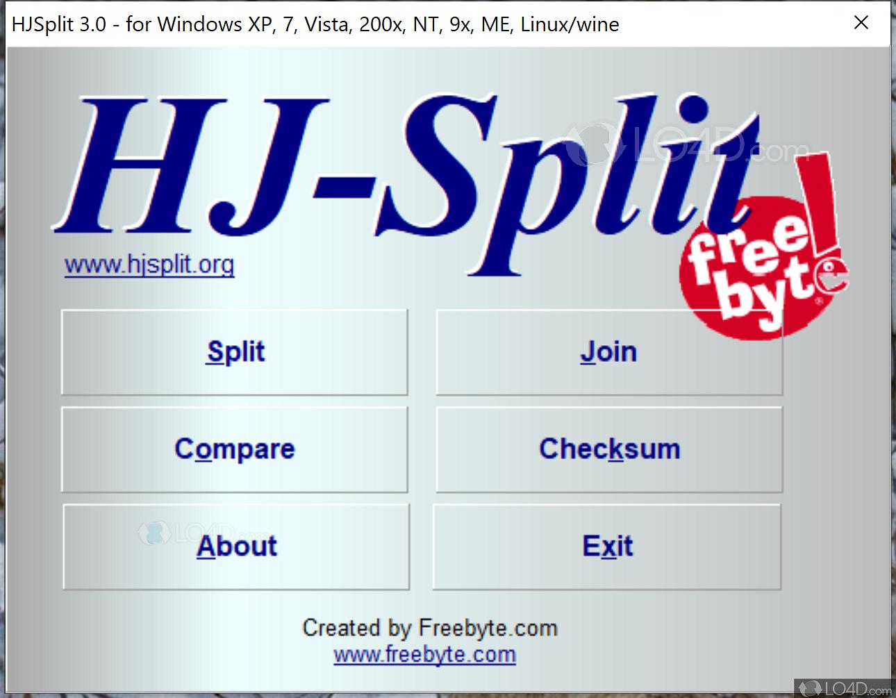 Download hjsplit 3. 0.