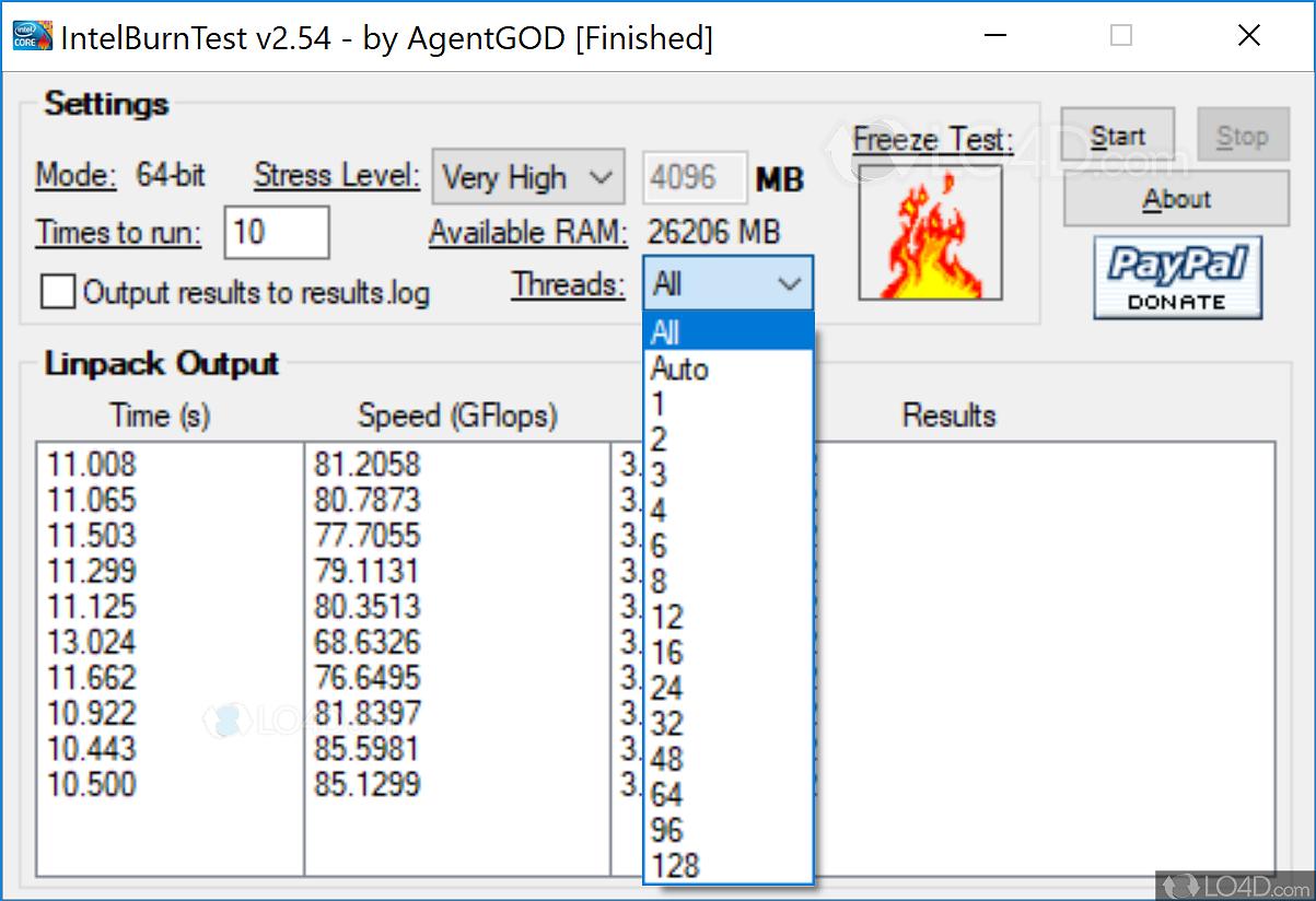 Intel burn test avx - LO4D com