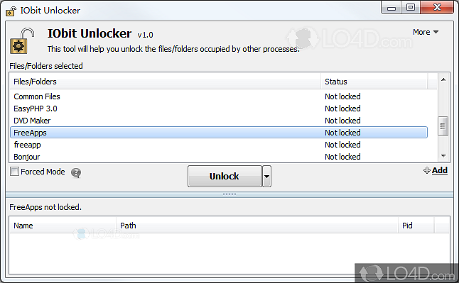 IObit Unlocker command line - LO4D com