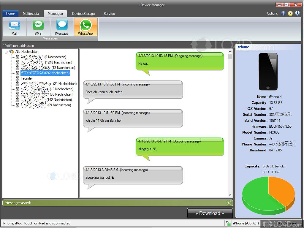 iExplorer (Formerly iPhone Explorer) - Screenshots