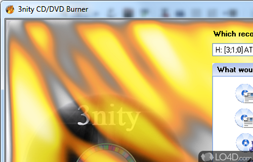 3nity CD DVD Burner Screenshot