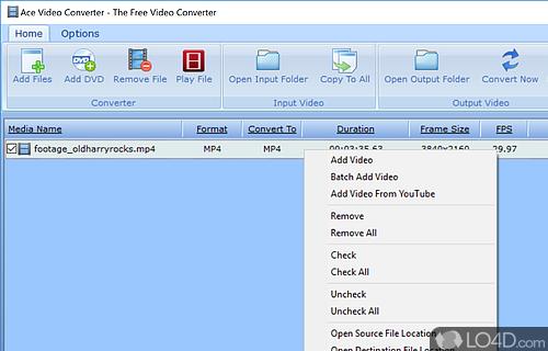 Ace Video Converter Screenshot
