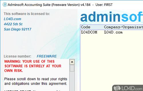 Adminsoft Accounts Screenshot
