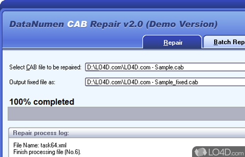 Advanced CAB Repair Screenshot
