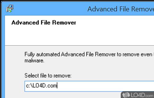 Advanced File Remover Screenshot