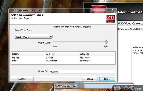AMD Media Codec Package Screenshot